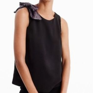 NWT J. Crew drape tank with shoulder bow